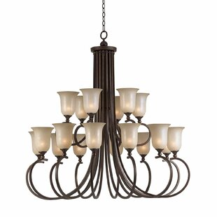 Darby Home Co Edgewater 18-Light Shaded Chandelier
