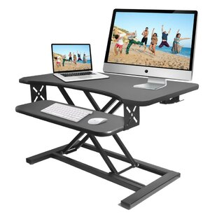 Hysell Standing Computer Desk/Monitor Height Adjustable Standing Desk Converter