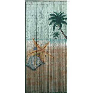 Star Fish Beach Bamboo Beaded Single Curtain Panel  sc 1 st  Wayfair & Closet Beads Curtains | Wayfair