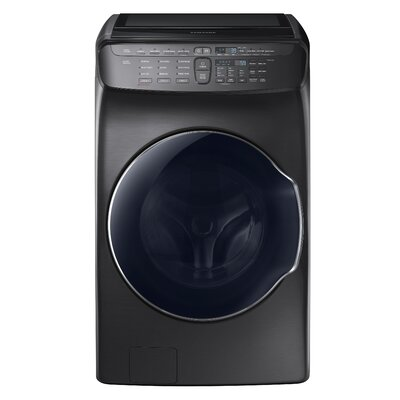 5.5 cu. ft. High Efficiency Front Load Washer Samsung Color: Black Stainless Steel