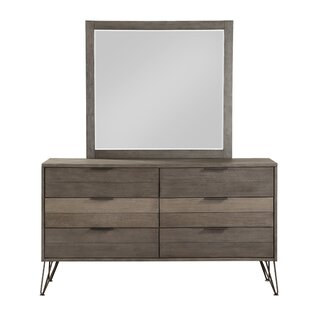 Borman 6 Drawer Double Dresser with Mirror by Union Rustic
