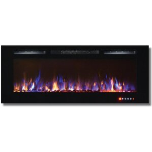 DeMotte Wall Mount Electric Fireplace by Ivy Bronx