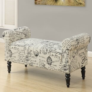 Vintage French Fabric Bench by Monarch Specialties Inc.