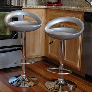 Giancola Adjustable Height Swivel Bar Stool (Set of 2) by Orren Ellis