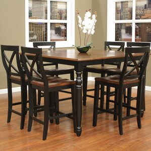 Deer Lodge 7 Piece Counter Height Dining Set by August Grove