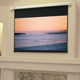 Salara Plug & Play White Electric Projection Screen by Draper Design
