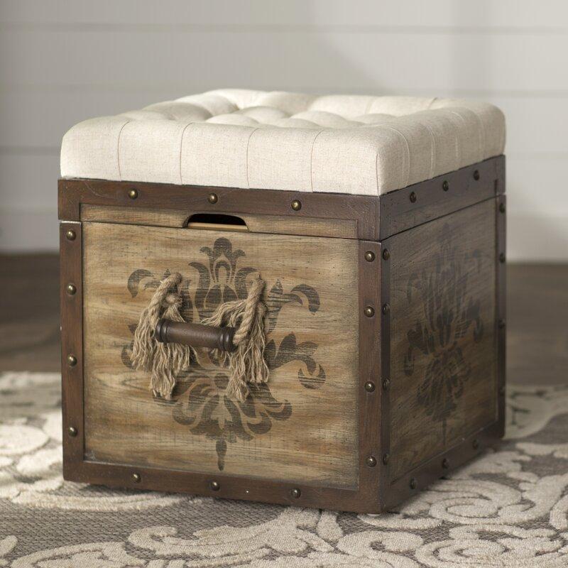default_name - Lark Manor Bissonette Cube Ottoman & Reviews Wayfair