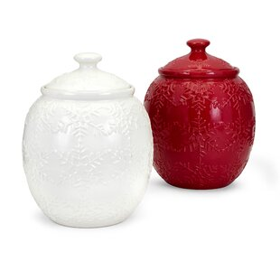 Homestead Christmas 2 Piece Cookie Jar Set by The Holiday Aisle