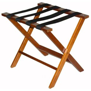 Price comparison Wood Luggage Rack with Strap By Central Specialties LTD