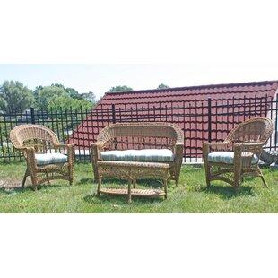 Camacho Lounge Sunbrella Seating Group with Cushions
