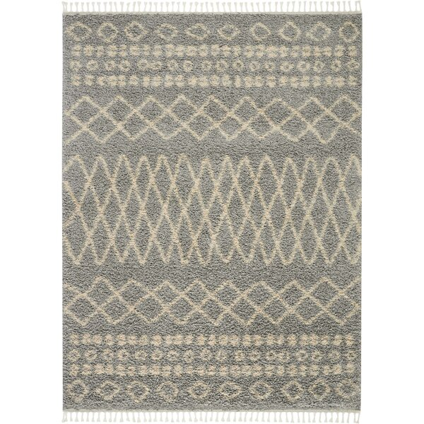 Union Rustic Iverson Moroccan Tribal Gray/Beige Area Rug by Union Rustic