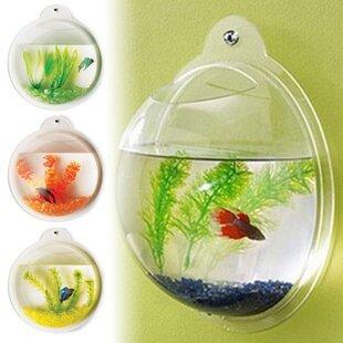 Hewett Fish Bubble Deluxe Acrylic Wall Mounted Aquarium Tank
