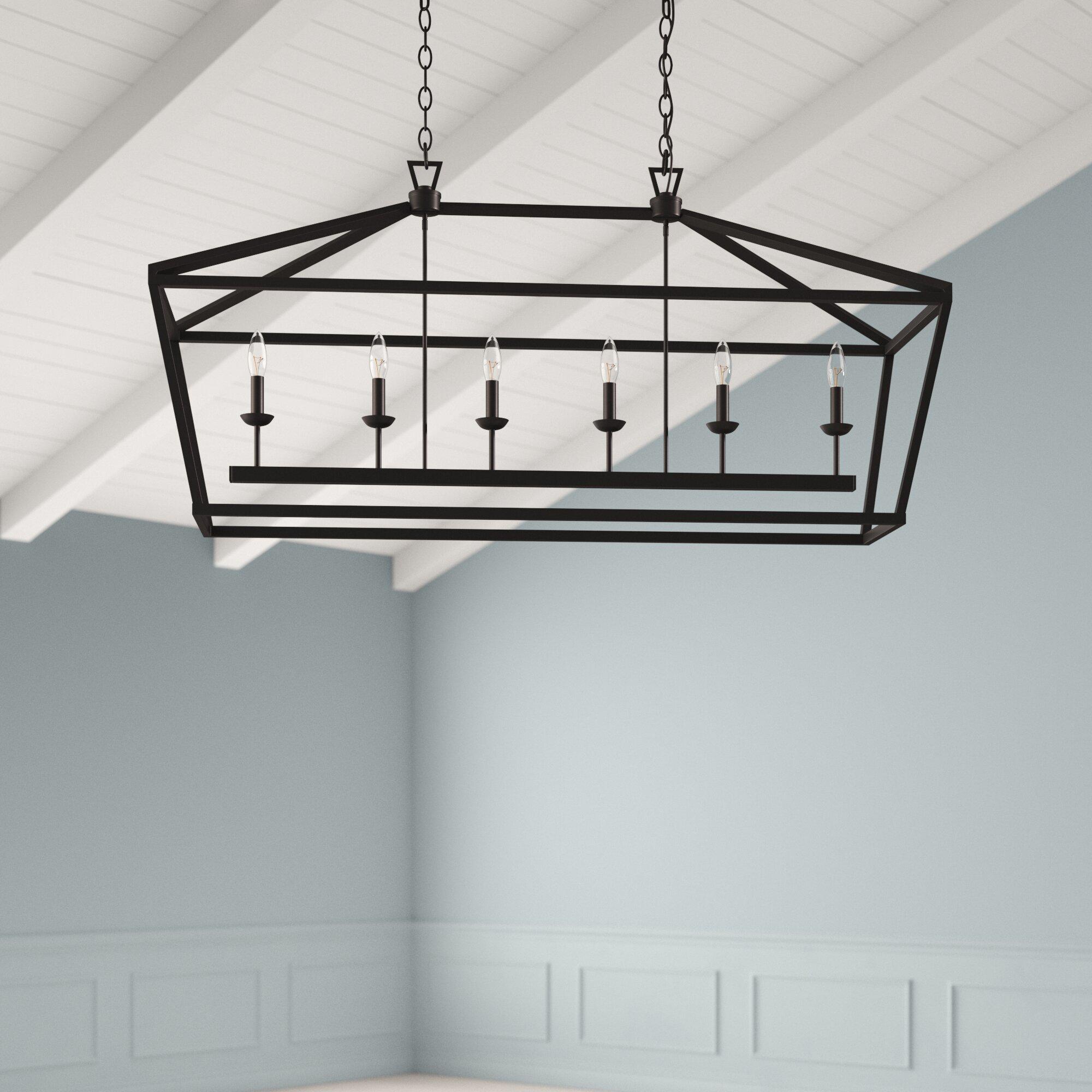 4 Light Kitchen Island Pendant Light Modern Industrial Chandelier Matte Black Box Frame Design No Bulb Included Ceiling Lights Bonsaipaisajismo Lighting Ceiling Fans