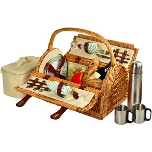 Sussex Picnic Basket with Coffee Flask for Two