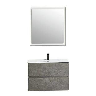 Abdulrahman 29 WallMounted Single Bathroom Vanity Set with Mirror by Orren Ellis