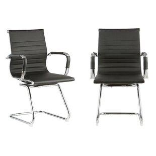 Modern Design Mid Back 12.5 Mesh Desk Chair (Set of 2)