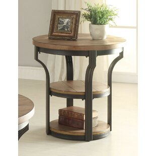 Milaca End Table by Gracie Oaks