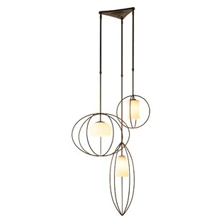 Interlude Treble 3-Light Cluster Pendant by Hubbardton Forge