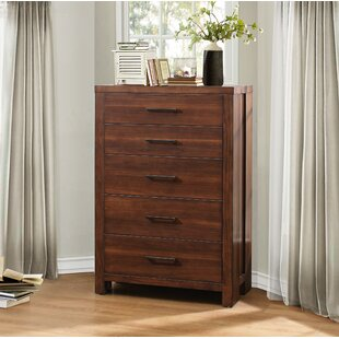 Union Rustic Broadwater 5 Drawers Standard Chest Image