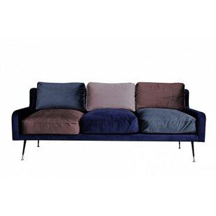 Plum 3 Seater Sofa By Happy Barok
