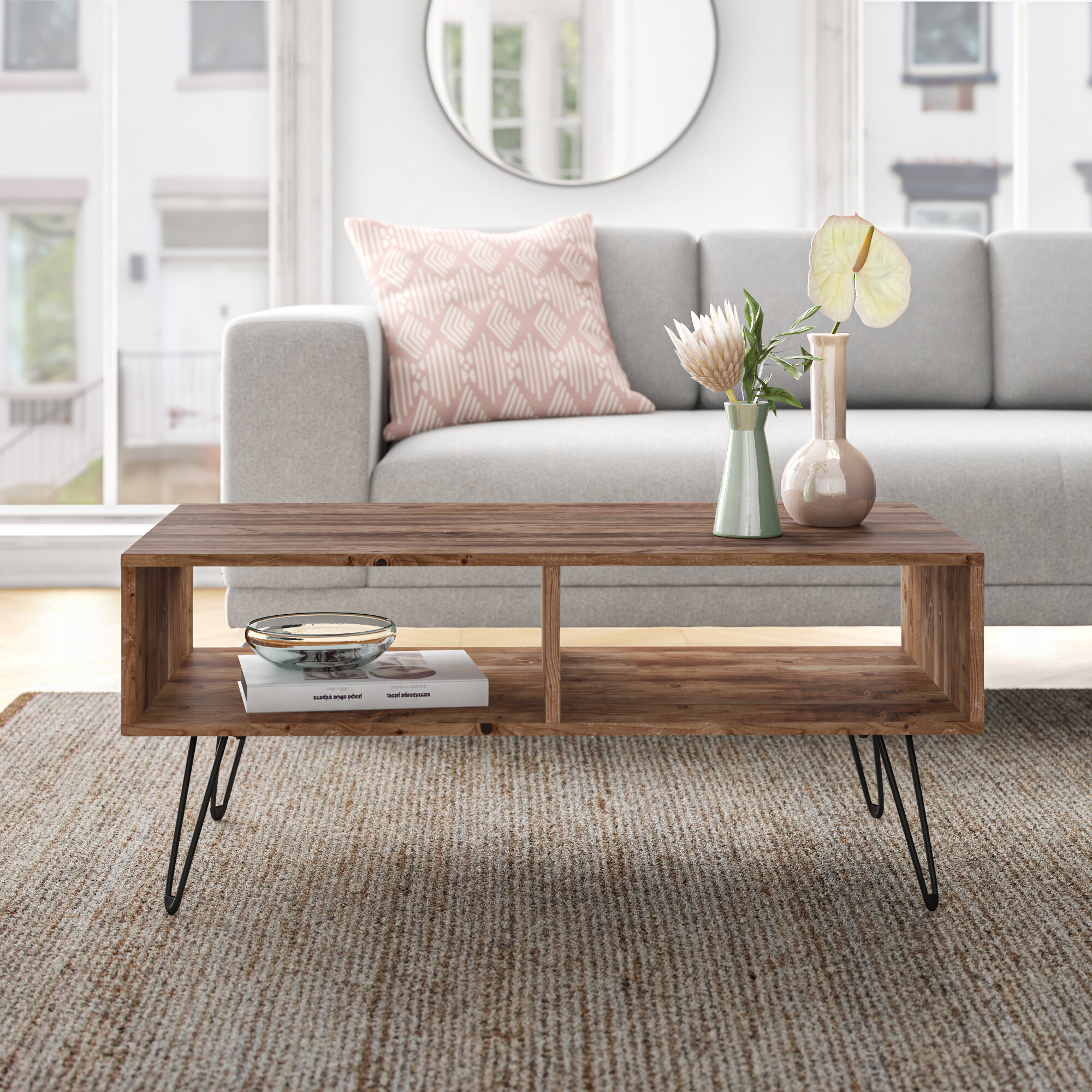 Industriel Table Basse Palette ramsey coffee table with storage