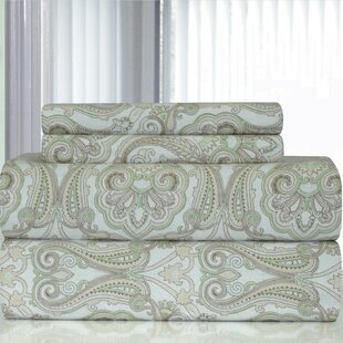 Heavy Weight Paisley Printed Flannel Sheet Set