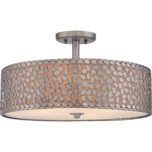 Avery 2-Light Semi Flush Mount by House of Hampton