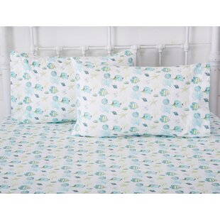Arnow Ultra-Soft Double-Brushed Coastal Printed Microfiber Sheet Set