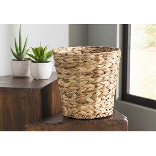 Reina Banana Leaf Wicker 3 Gallon Waste Basket