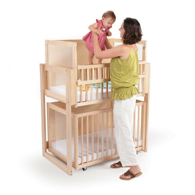 Merveilleux Space Saver 2 Level Folding Portable Crib With Mattress