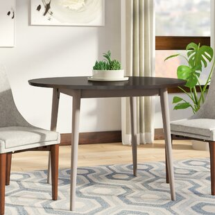 Bober Solid Wood Dining Table Ivy Bronx