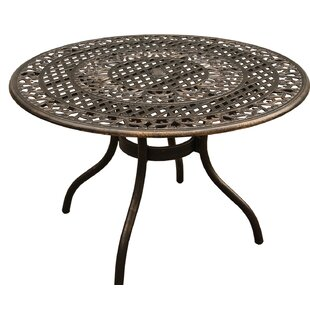 Casas Ornate Mesh Lattice Aluminum Dining Table