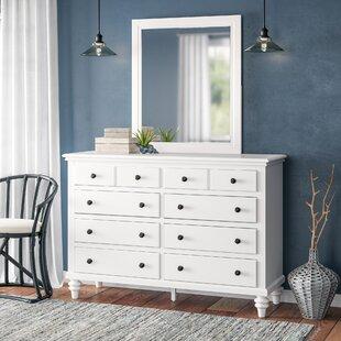 Harrison 8 Drawer Dresser with Mirror by Beachcrest Home