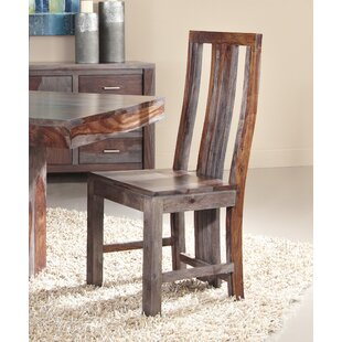 Cothern Modern Solid Wood Dining Chair (Set of 2) Loon Peak