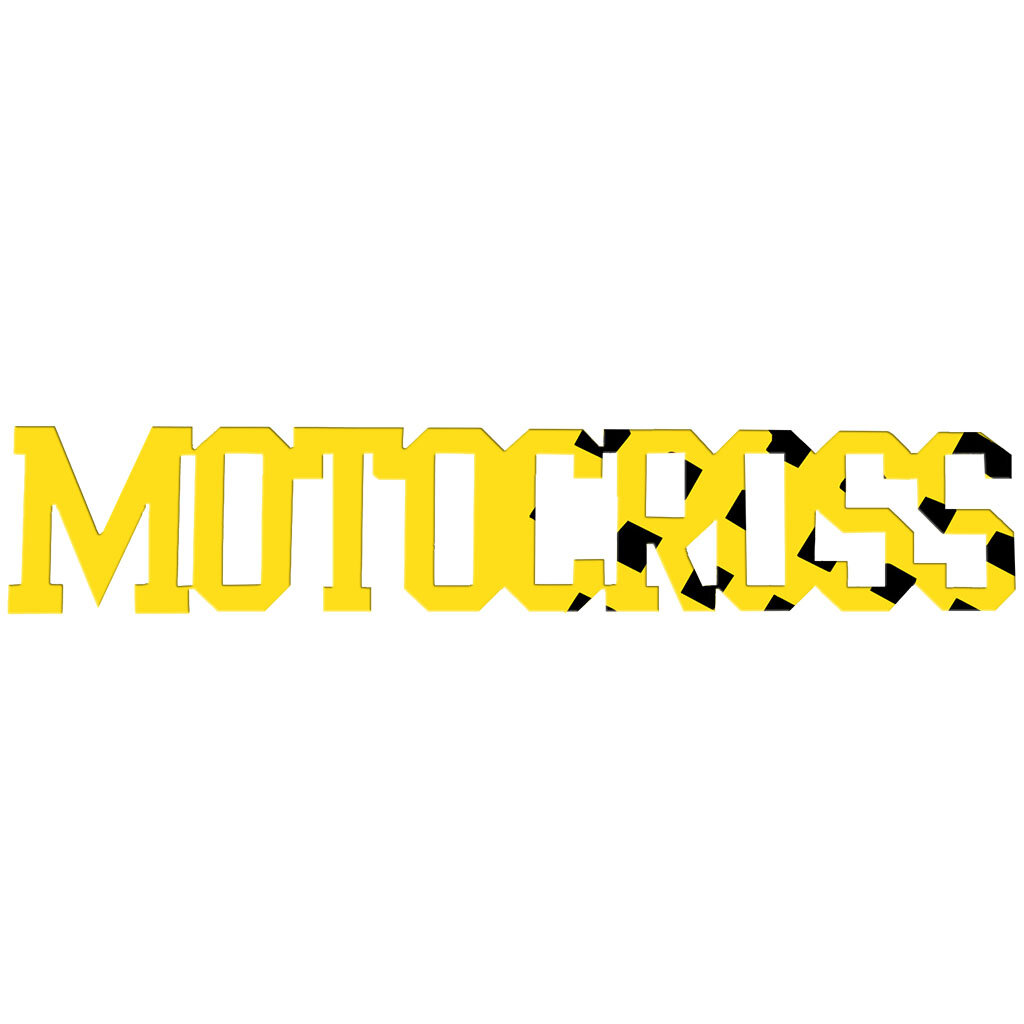 Ebern Designs Motocross Sign Metal Wall Décor & Reviews | Wayfair