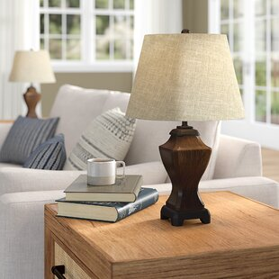 Cosmo Traditional Wooden Looking 19 Table Lamp (Set of 2)