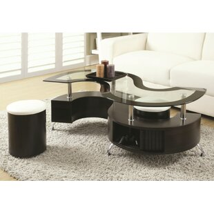 Pauletta 3 Piece Coffee Table Set