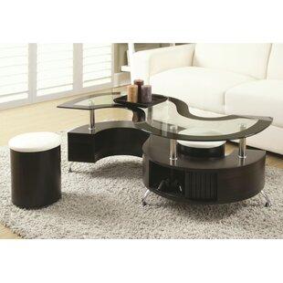 Pauletta 3 Piece Coffee Table Set by Orren Ellis Cool