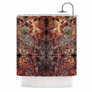 'Mosaic - I' Vector Single Shower Curtain