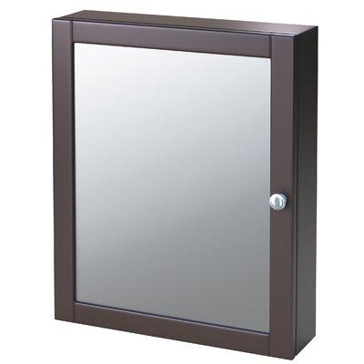 Winston Porter Clarkfield 19 x 23.88 Surface Mount Framed Medicine Cabinet with 2 Adjustable Shelves Finish: Espresso