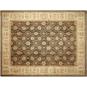 One-of-a-Kind Leann Hand-Knotted Oriental Gray Area Rug