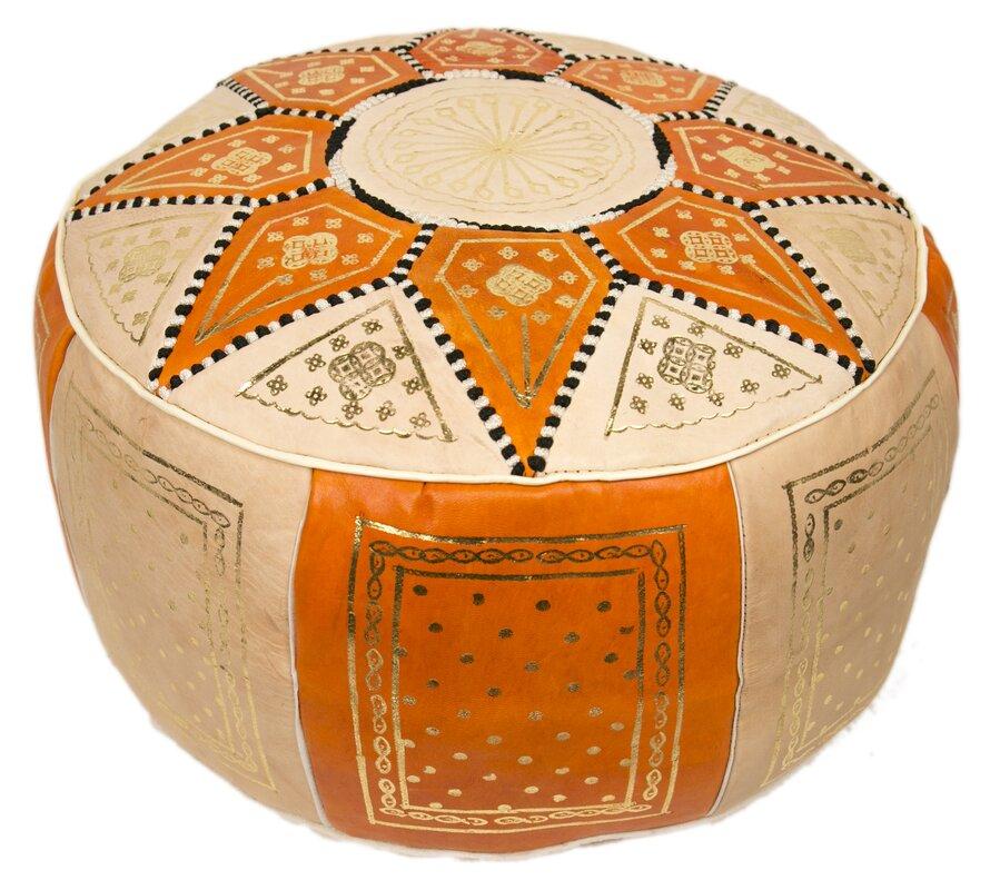 Moroccan Marrakech Pouf Leather Ottoman Amp Reviews Allmodern