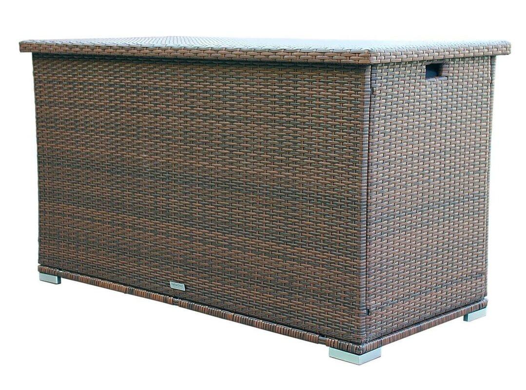 Moda Furnishings Seattle 138 Gallon Wicker Deck Box