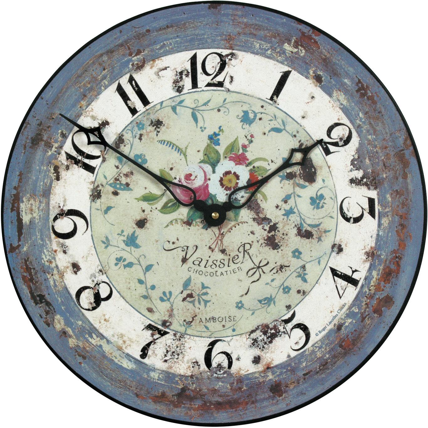 Roger Lascelles Clocks 36cm Antique Rose Wall Clock Reviews Wayfair Co Uk