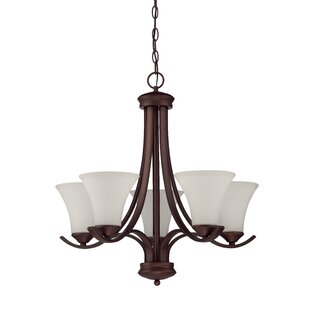 Red Barrel Studio Cicely 5-Light Shaded Chandelier