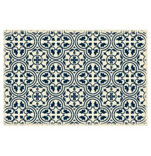 Jayce Quad European Design Blue/White Indoor/Outdoor Area Rug