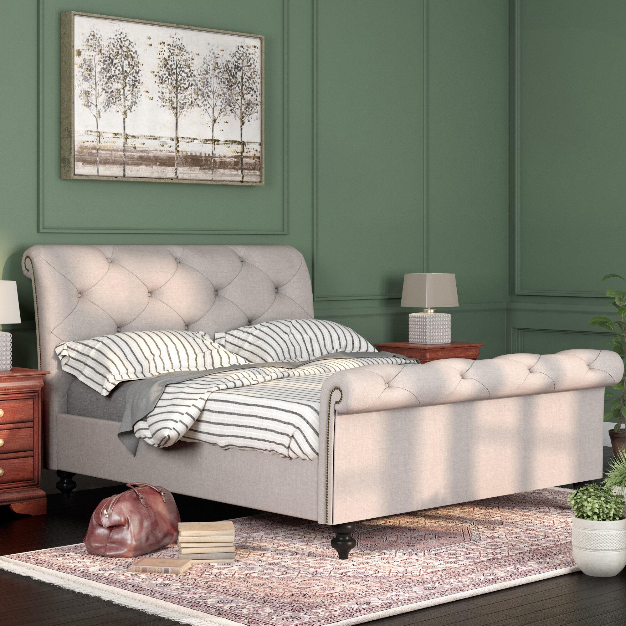 darby furniture home co bed pdx wayfair sleigh upholstered karsten reviews