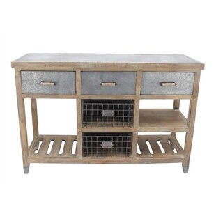 Attaway Spacious Wood and Metal Console Table