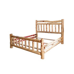 Toyon Rustic Red Cedar Log Panel Bed