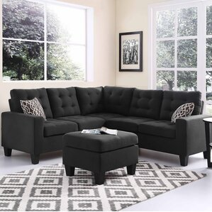 Pawnee Modular Sectional with Ottoman : black sectional sofas - Sectionals, Sofas & Couches